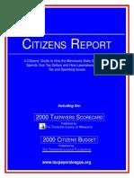2000 Taxpayers League of Minnesota Scorecard