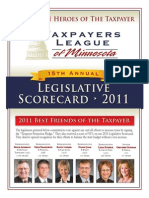 2011 Taxpayers League of Minnesota Scorecard