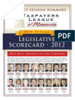 2012 Taxpayers League of Minnesota Scorecard