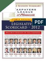 2012 Taxpayers League of Minnesota Scorecard