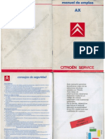Manual Usuario Citroen AX