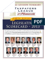 2013 Taxpayers League of Minnesota Scorecard