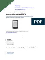 Actualización del firmware de PRS-T2