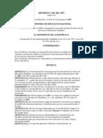 Decreto 1381 de 1997 Prima de Vacaciones Magisterio