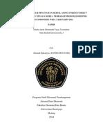 Analisis Pengaruh Penanaman Modal Asing (Foreign Direct Investment) Dan Tenaga Kerja Terhadap Produk Domestik Bruto Indonesia Pada Tahun 2007-2011