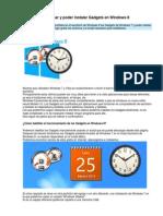 Como Habilitar, Usar y Poder Instalar Gadgets en Windows 8