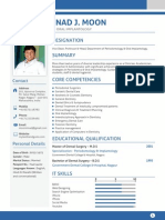 Resume of periodontist, Prof. Dr. Ninad Moon