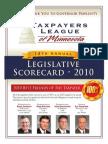 2010 Taxpayers League of Minnesota Scorecard