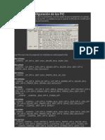 configuración de los PIC