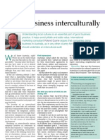 Roland Dunne 'Doing Business Interculturally' Business Money International Magazine March 2005