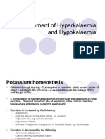 Management of Hyperkalaemia and Hypokalaemia