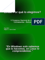 [CNSL Bolivia 2005]Linux! Por qué lo elegimos