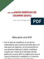 INTERFACES GRÁFICAS DE USUARIO (GUI's)