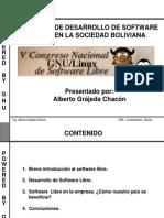 [CNSL Bolivia 2005]Proceso de desarrollo de software libre en la sociedad boliviana