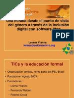 [CNSL Bolivia 2005]Una mirada desde el punto de vista del género a través de la inclusión digital con software libre