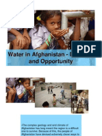 Water in Afghanistan - Difficulty and Opportunity
