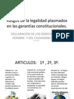 Rasgos de la legalidad plasmados en las garantías