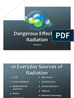 Dangerous Effects of Radiation