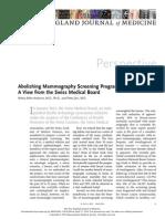 Abolishing Mammography Screening Programs?