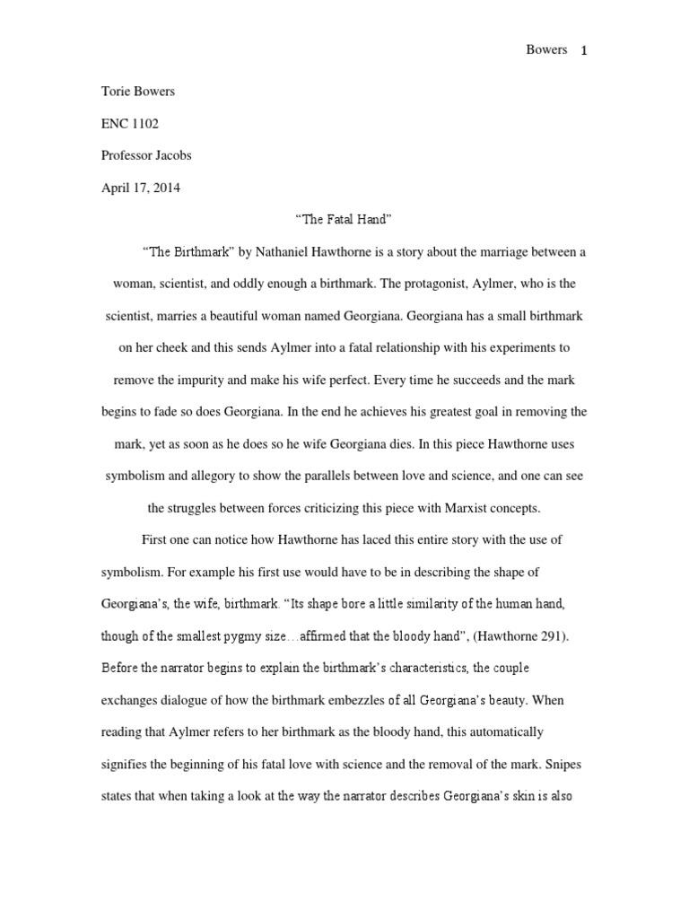 Essays on the birthmark
