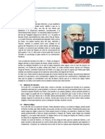 LOS POS-SOCRATICOS  Platón y Aristóteles