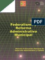 Federalismo y Reforma Administrativa Municipal INAP