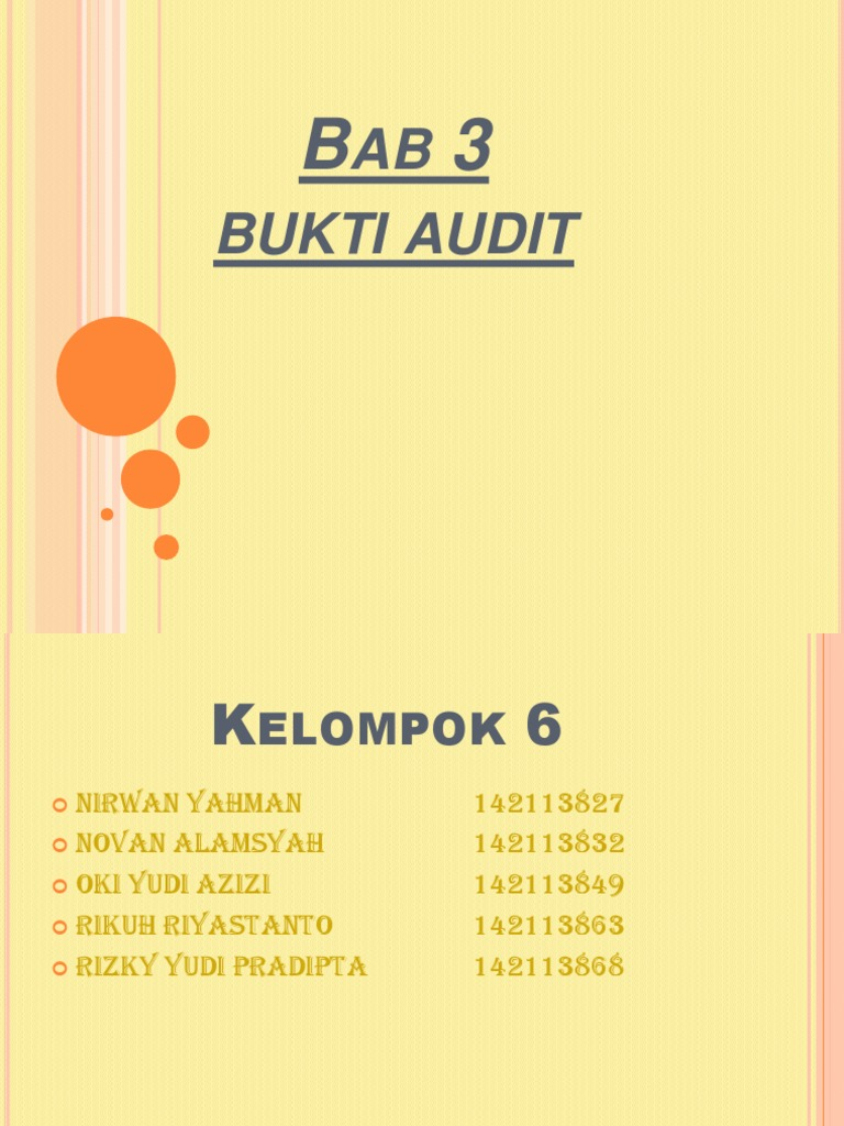Power Point Auditing Bab 3 Bukti Audit