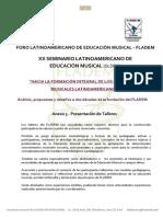 Anexo 3  XX SLDEM - Presentación de Talleres - FLADEM 2014