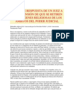 VALIENTE RESPUESTA DE UN JUEZ A PRETENSIÓN DE RETIRARA IMÁGENES RELIGIOSAS DEL PODER JUDICIAL-Javier Anzoátegui-2013