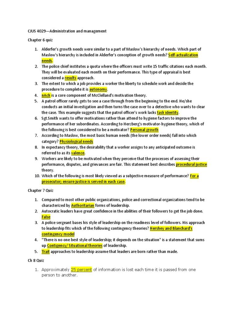 Quiz Review CJUS 4029 | Prison | Probation