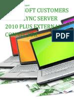 Microsoft Customers using Lync Server 2010 Plus External Connector - Sales Intelligence™ Report