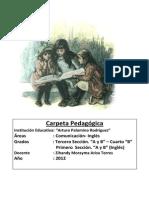 Carpeta Pedagógica 2012 Arturo