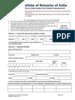 Admission Form for Institute of Actuaries of India(IAI)