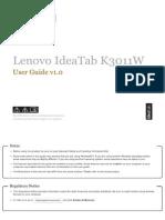 Lenovo IdeaTab K3011W - User Guide 1