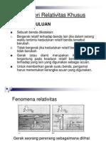 Bab 1 Teori Relativitas Khusus (PPT in PDF)