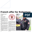 French offer for Robertson (The Star, April 11, 2014)
