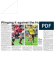 Winging it against the Hurricanes (The Star, March 28, 2014)