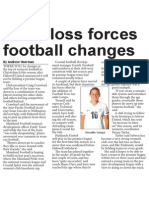 Team loss forces football changes (The Star, March 26, 2014)