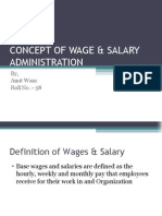 Concept of Wage & Salary Administration