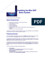 ABAP Installing the Mini SAP Basis System