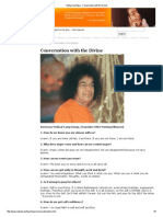 Sathya Sai Baba - Conversation With the Divine