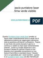 Potente Fascio Puntatore Laser Verde 5mw Verde Visibile