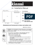Water Heater Rinnai 3237 Installation Manual