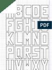 Letras Na Caixa Em Papel Quadriculado