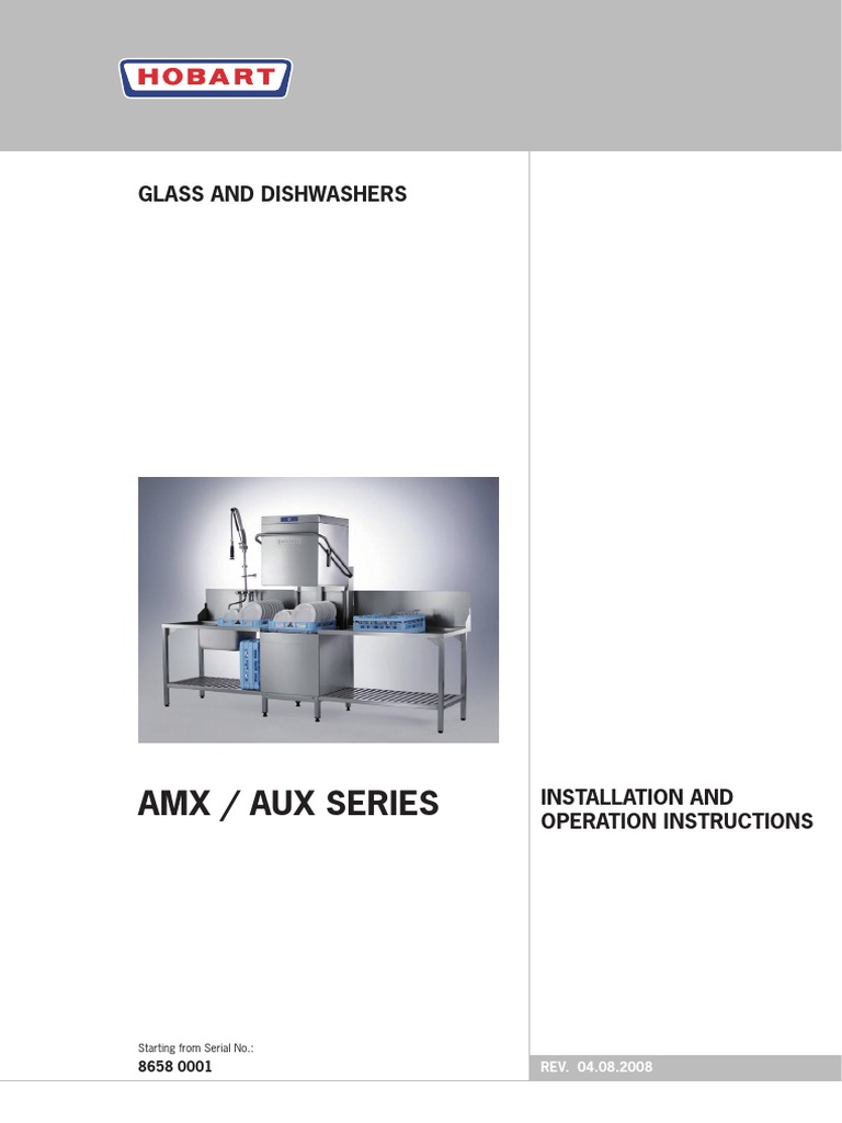 dishwasher hobart amx dishwasher manufactured goods rh es scribd com