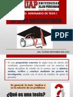 Clase 1 La Tesis Universitaria