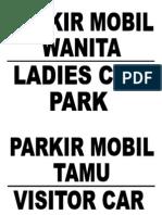 Parkir Wanita
