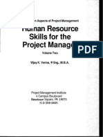 Human Resource Skills for the Project Manager The Human Aspects of Project Management, Volume 2