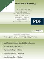 Asset Protection Slides