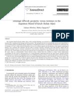 Drainage network geometry versus tectonics in the Argentera Massif (French–Italian Alps)